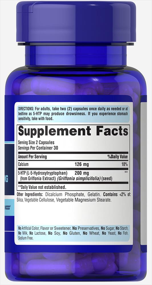 5-гидрокситриптофан, 5-HTP 100 мг, Puritan's pride