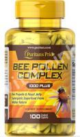 Пчелиная пыльца, 1000 мг., Puritan's pride, 100 капсул