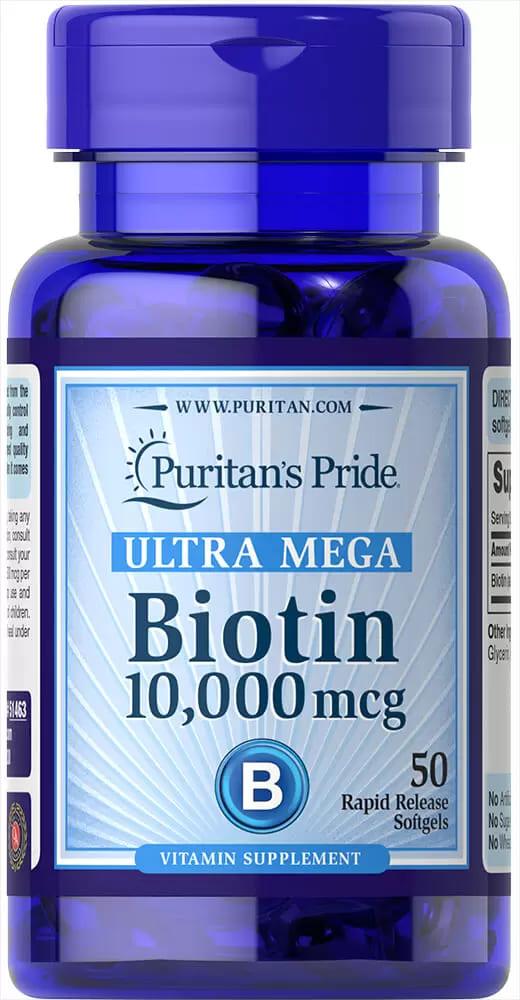 Биотин, 10 000 мкг., Puritan's pride