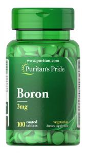 Бор, 3 мг., Puritan's pride, 100 таблеток