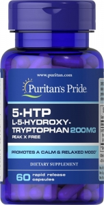 5-гидрокситриптофан, 5-HTP, 200 мг., Puritan's pride