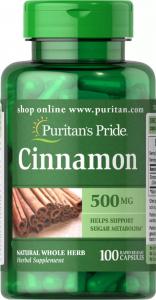 Экстракт корицы, 500 мг., Puritan's pride