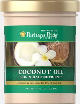 Кокосовое масло для кожи и волос, Puritan's pride, 207 мл.