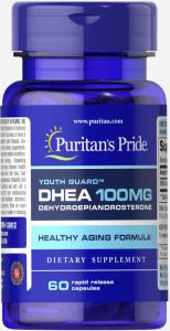 Дегидроэпиандростерон, DHEA, 100 мг., Puritan's pride, 60 капсул