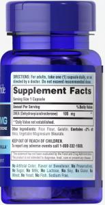 Дегидроэпиандростерон, ДГЭА, DHEA, 100 мг., Puritan's pride, 60 капсул