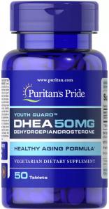 Дегидроэпиандростерон, ДГЭА, DHEA, 50 мг., Puritan's pride,  50 таблеток