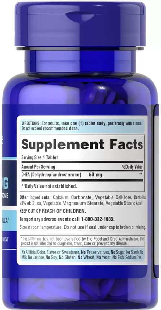 Дегидроэпиандростерон, DHEA, 50 мг., Puritan's pride,  50 таблеток