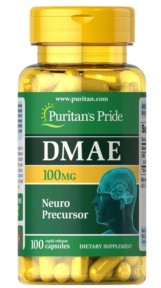 Диметиламиноэтанол, DMAE, 100 мг., Puritan's pride, 100 капсул