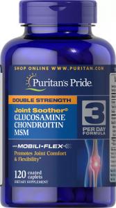 Глюкозамин, Хондроитин с МСМ, двойная сила, Puritan's pride