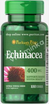 Эхинацея, 400 мг., Puritan's pride, 100 капсул