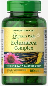 Эхинацея комплекс, 400 мг., Puritan's pride, 100 капсул