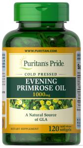 Масло вечерней примулы, 1000 мг., Puritan's pride, 120 капс.