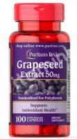 Экстракт виноградных косточек, 50 мг., Puritan's pride, 100 капсул