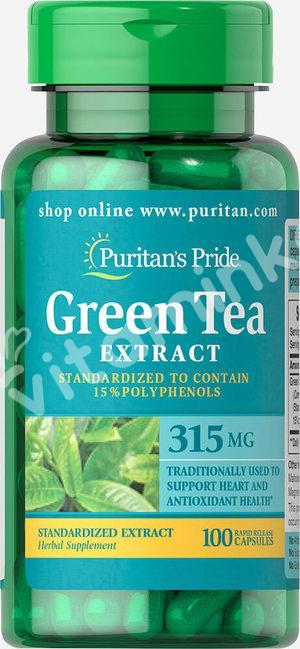 Экстракт зеленого чая, 315 мг., Puritan's pride