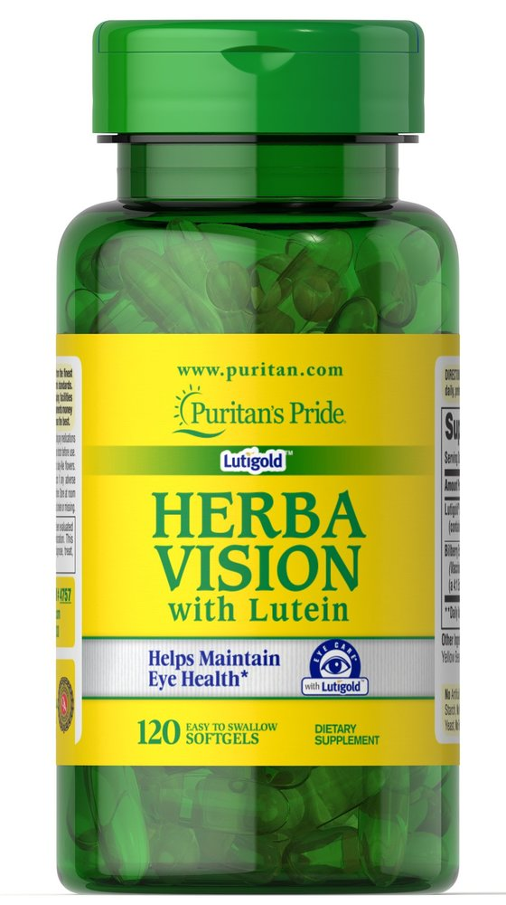Комплекс для глаз с лютеином и черникой, Herbavision, Puritan's pride