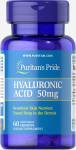 Гиалуроновая кислота, 50 мг., Puritan's pride, 60 капсул