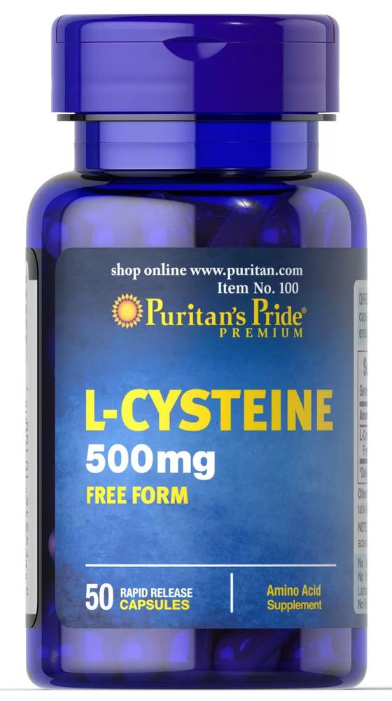 Цистеин, 500 мг., Puritan's pride, 50 капсул