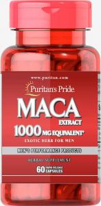 Мака перуанская, 1000 мг., Puritan's pride, 60 капсул