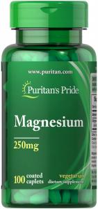 Магний, 250 мг., Puritan's pride, 100 капсул