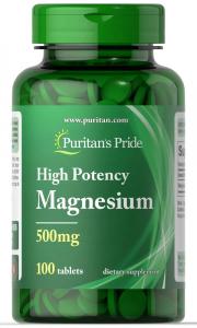 Магний, 500 мг., Puritan's pride, 100 таблеток