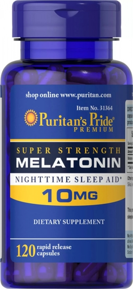 Мелатонин, 10 мг., Puritan's pride