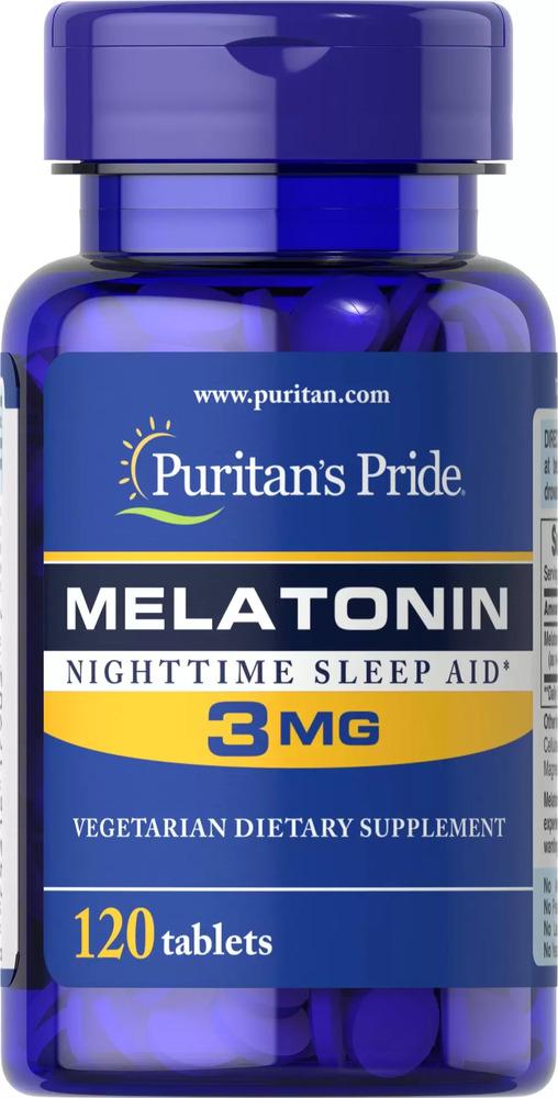 Мелатонин, 3 мг., Puritan's pride