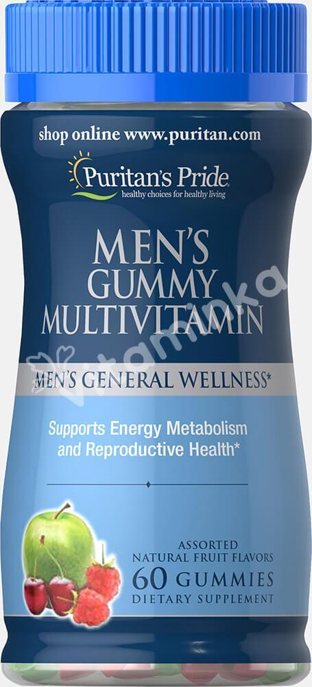 Мультивитамины для мужчин, Puritan's pride, 60 жевательных конфет