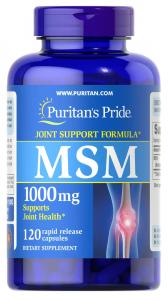 МСМ (Метилсульфонилметан), 1000 мг., Puritan's pride, 120 капсул