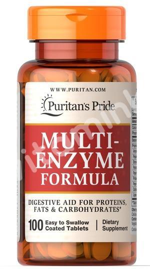 Комплекс энзимов (ферментов), Puritan's pride, 100 таблеток