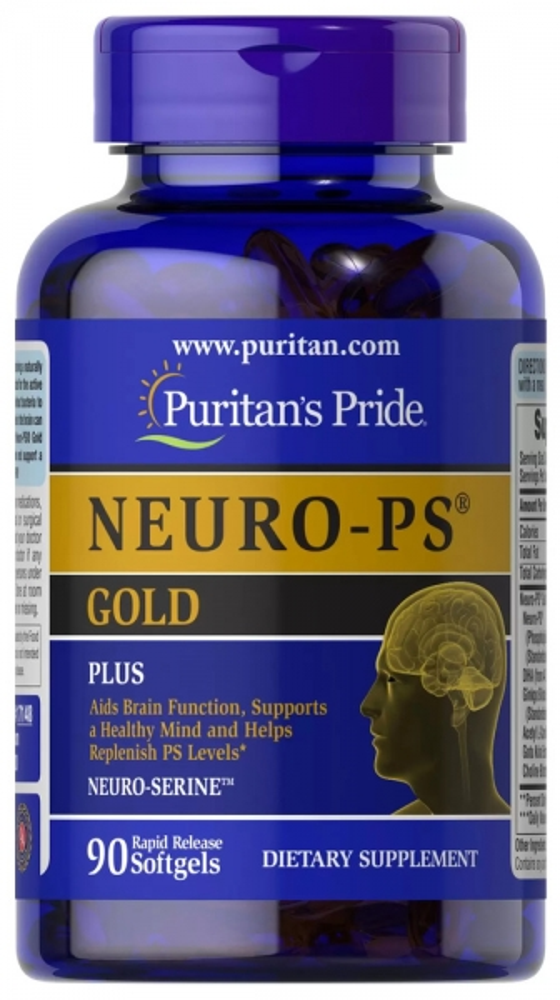 Нейро комплекс Голд, фосфатидилсерин, Puritan's pride, 90 капсул