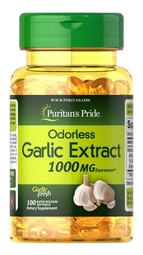 Чеснок без запаха, 1000 мг., Puritan's pride, 100 быстрорастворимых капсул