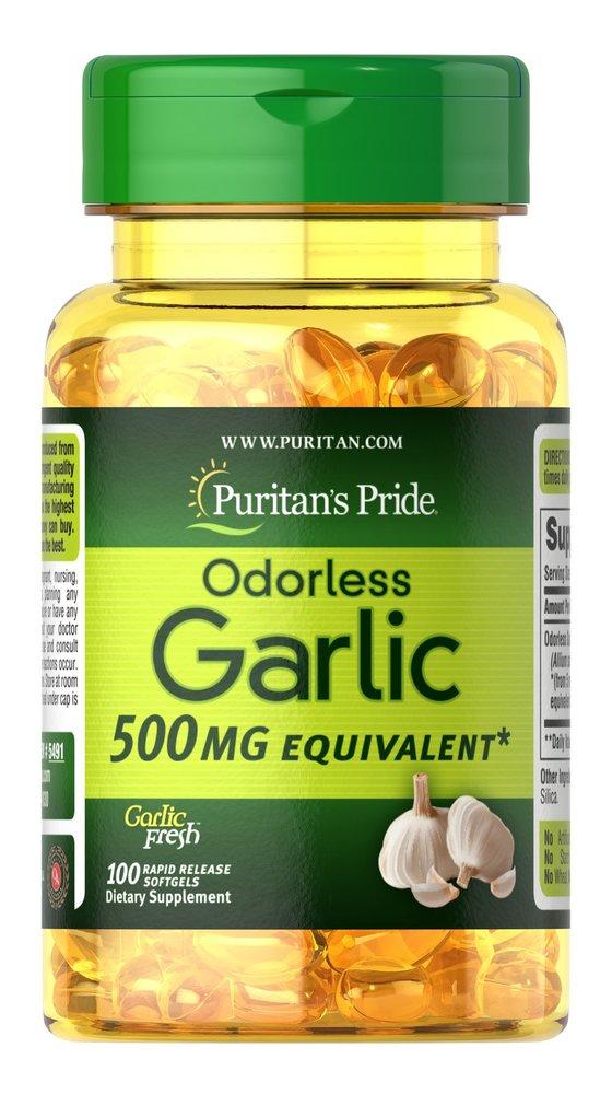Чеснок без запаха, 500 мг., Puritan's pride, 250 быстрорастворимых капсул
