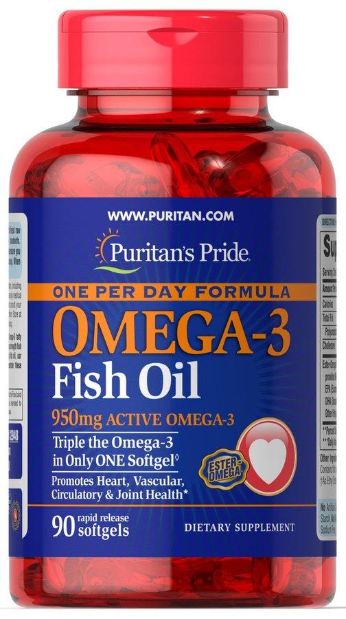 Омега-3, 1360 мг., Puritan's pride, 90 капсул
