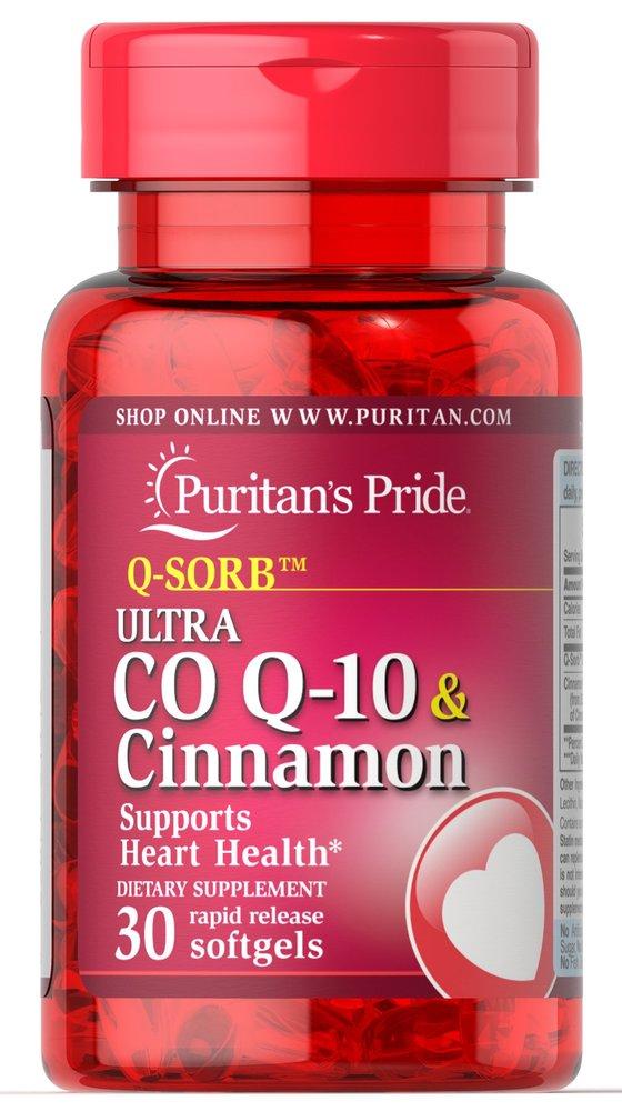 Коэнзим Q-10 Q-SORB с корицей, Puritan's pride