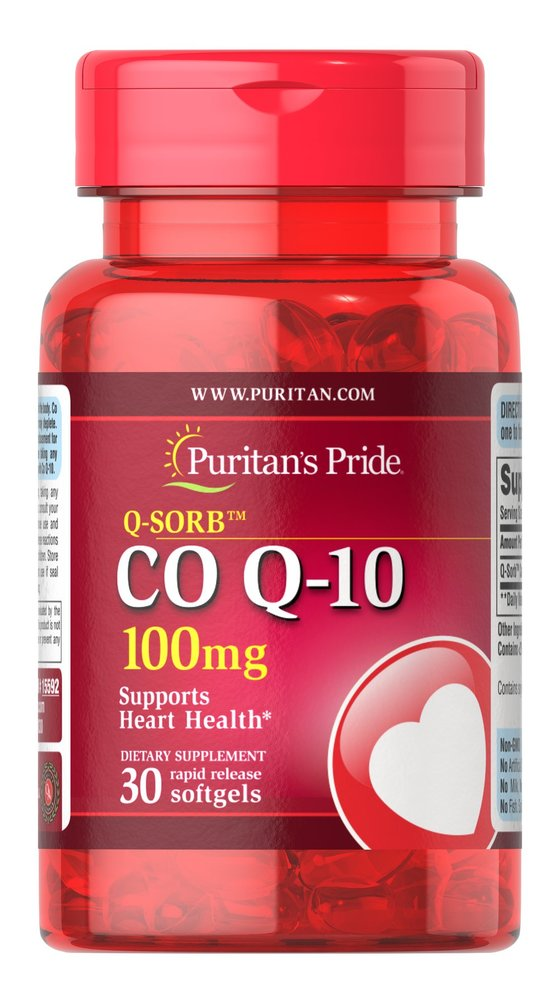 Коэнзим Q-10 Q-SORB, 100 мг., Puritan's pride