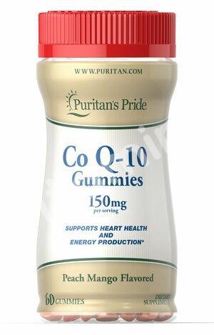 Коэнзим Q-10, 150 мг., Puritan's pride, 60 желатиновых конфет
