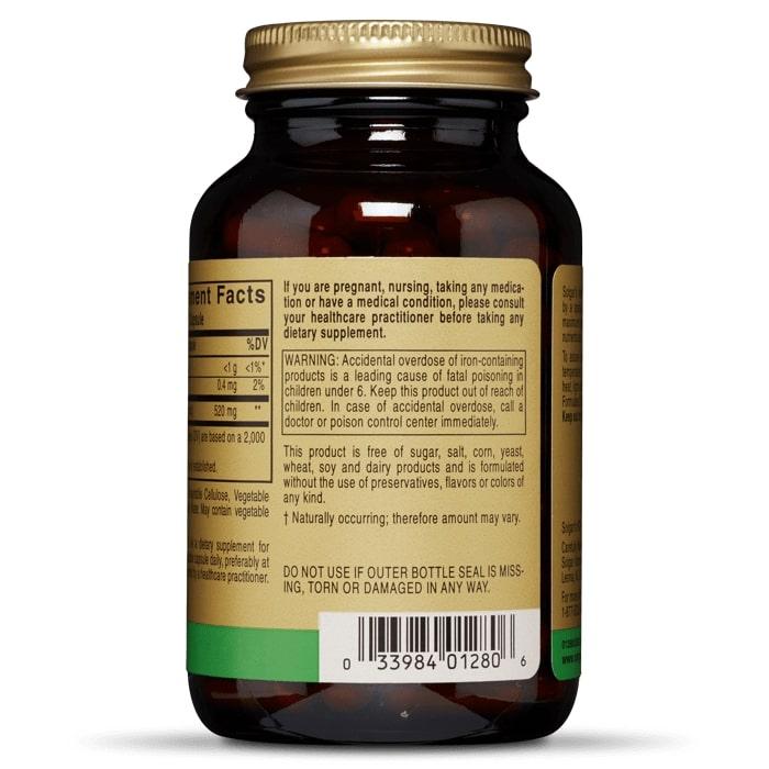 Элеутерококк, Solgar, 520 мг, 100 капсул