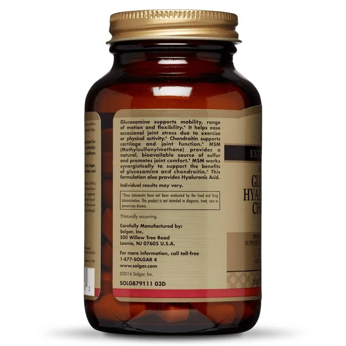 Глюкозамин, Гиалуроновая кислота, Хондроитин, МСМ, Solgar