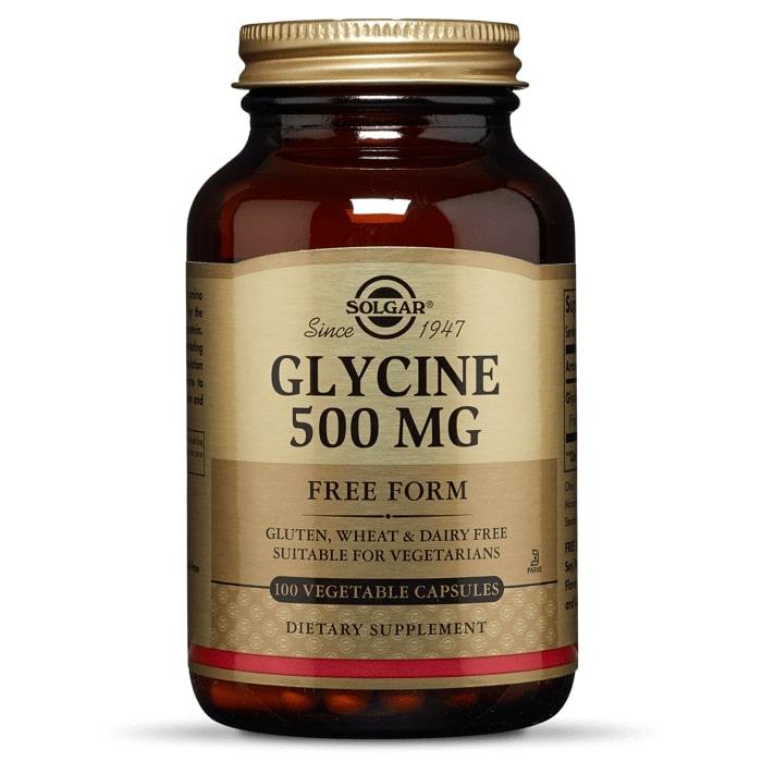 Глицин, Solgar, 500 мг, 100 капсул