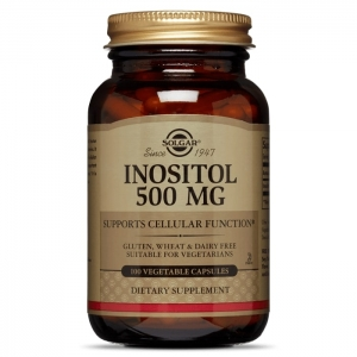 Инозитол, Solgar, 500 мг, 100 капсул