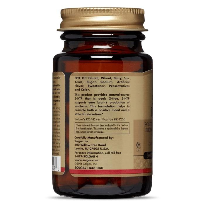 5-гидрокси L-триптофан (5-НТР), Solgar, 100 мг.