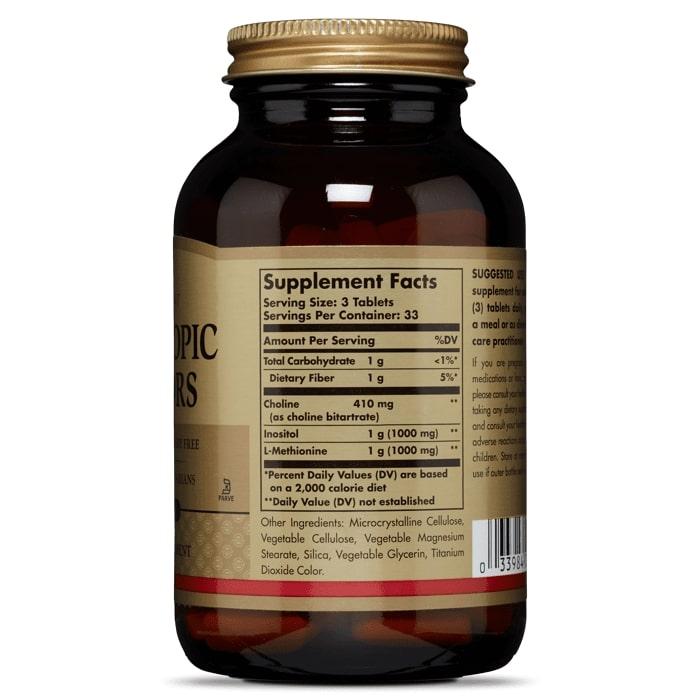 Липотропный фактор, Solgar, 100 таблеток