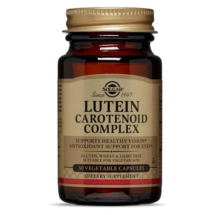 Лютеин, комплекс каротиноидов, Solgar, 30  капсул