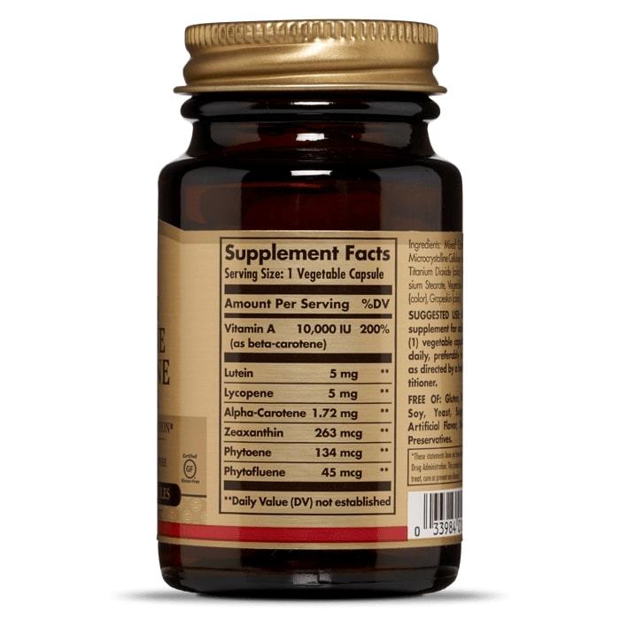 Лютеин, ликопин, комплекс каротиноидов, Solgar, 30 капсул