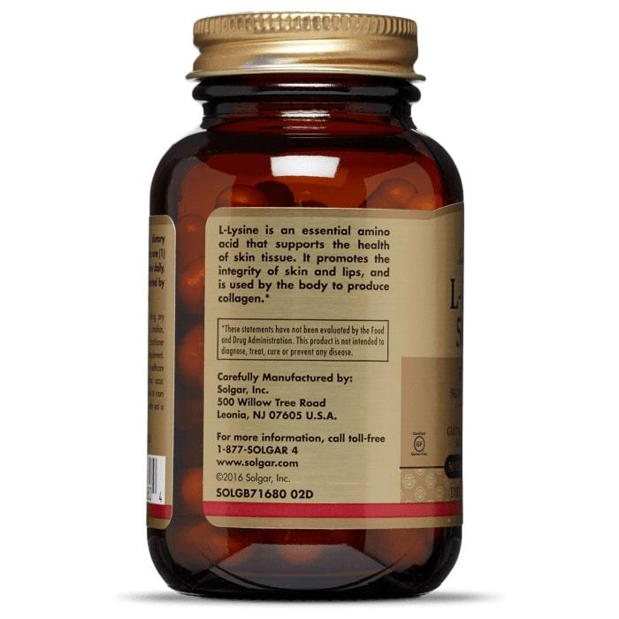 Лизин, Solgar, 500 мг.