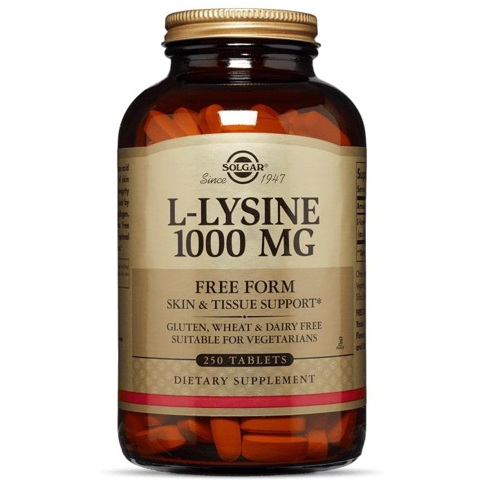 L- лизин, 1000 мг, Solgar