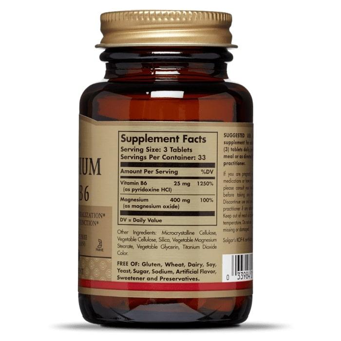 Магний с витамином В6, 133/8 мг., Solgar
