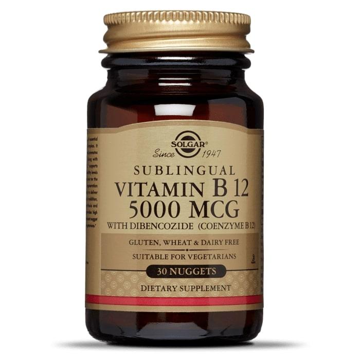 Витамин В12, Solgar, 5000 мкг, 30 таблеток