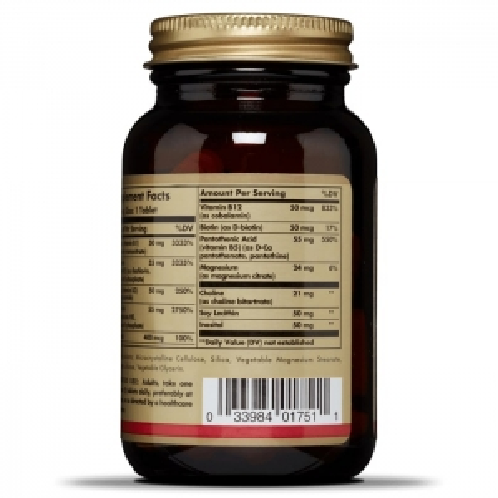 Витамин В-50 (комплекс) Мегасорб, Solgar, 100 таблеток