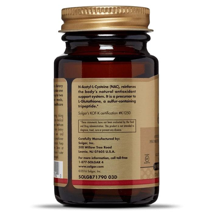 Ацетилцистеин, NAC, Solgar, 600 мг.